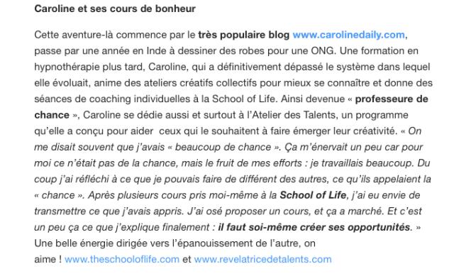 Life coach presse